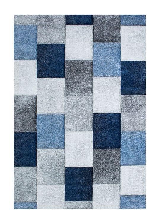 Essex Mosaik Blå - Maskinvävda Mattor
