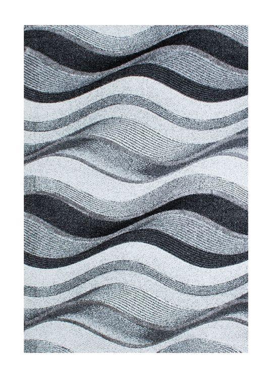Boro Wave Silver - Maskinvävda Mattor