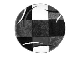 Essex Patch Svart Rund - Maskinvävda Mattor