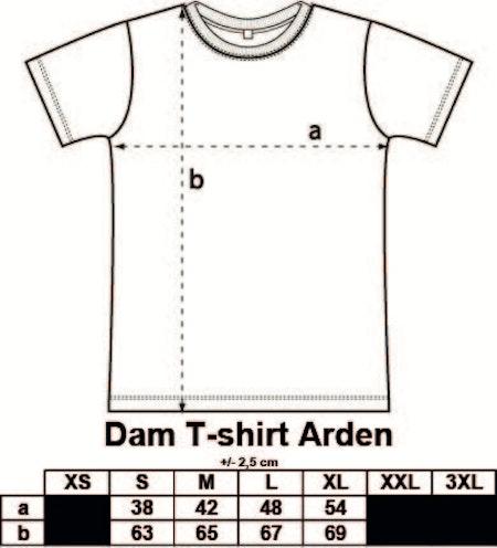 """Dam T-shirt Arden """"Läppar"""""""