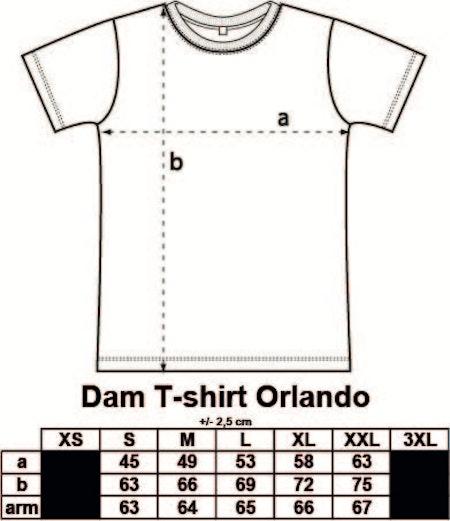Dam T-shirt Orlando med tryck