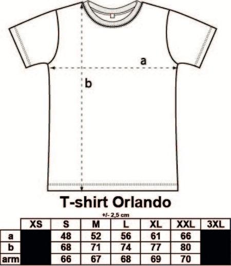 T-shirt Orlando med tryck
