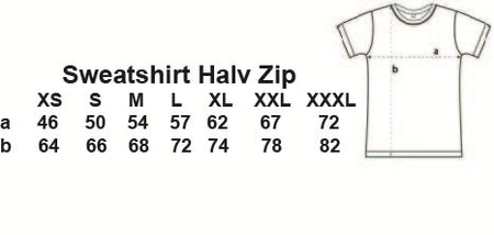 """Sweatshirt Halv-Zip """"Förskoleupproret!"""" FYNDHÖRNA"""