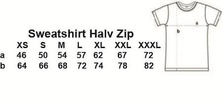 """Sweatshirt Halv-Zip """"Skolföräldraupproret"""""""