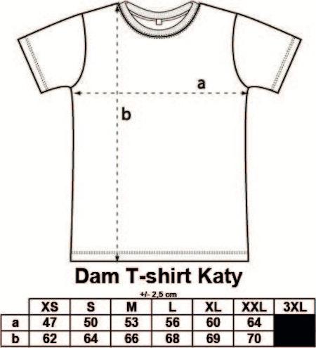 """Dam T-shirt Katy """"VÄRLDENS BÄSTA MAMMA STRÅLAR"""""""