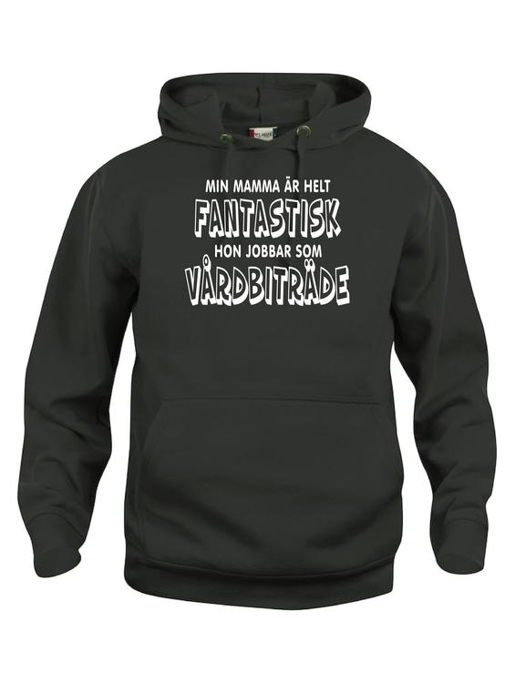 """Kopia Hoodtröja Basic """"FANTASTISK ÄR VÅRDBITRÄDE"""""""