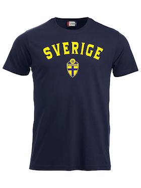 "T-shirt Classic ""SVERIGE Mörk Marin med namn & nummer"""
