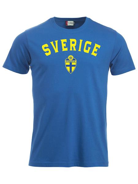 """T-shirt Classic """"SVERIGE Royalblå med namn & nummer"""""""