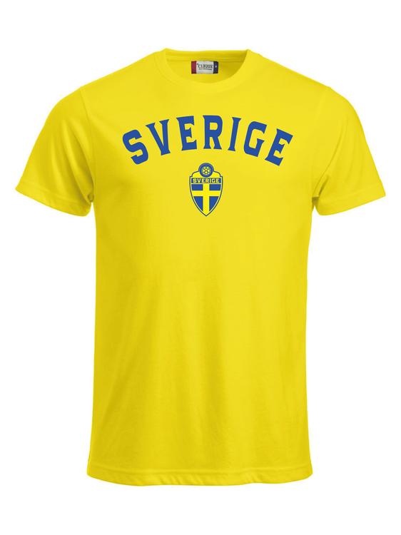 """T-shirt Classic """"SVERIGE Gul med namn & nummer"""""""