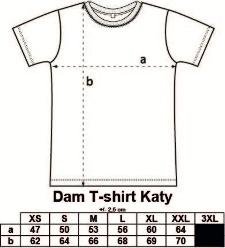 "Svart Dam T-shirt Katy ""SCOTTS"""