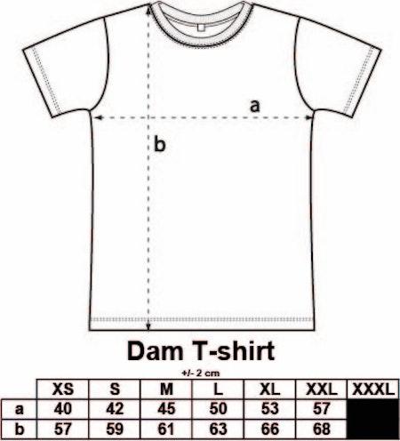 """Dam T-shirt Classic """"Håll avstånd"""" FYNDHÖRNA"""