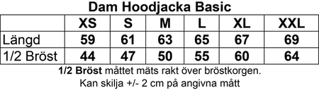 """Grå Dam HOODJACKA v.bröst & rygg """"BLACK-INGVARS"""""""