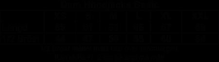 """Blå Dam Hoodjacka """"Micke Ahlgrens"""" rygg"""