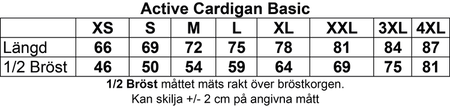 "Blå Cardigan Active ""Micke Ahlgrens"" fram & rygg"