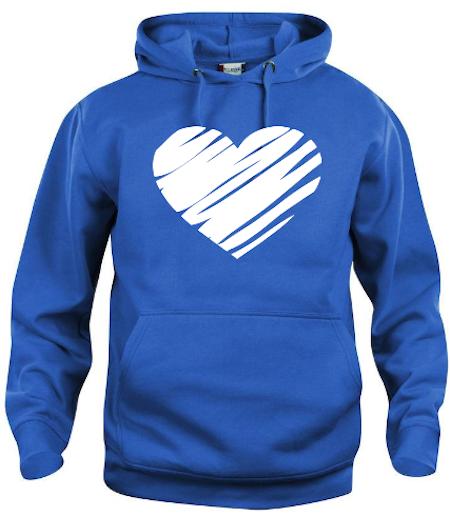 """Hoodtröja Basic """"Hjärta"""""""