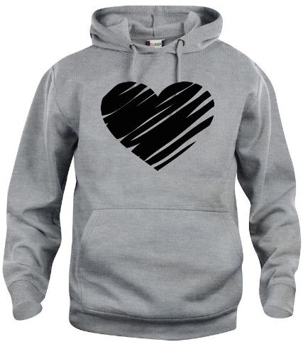"""Hoodtröja """"Hjärta"""""""