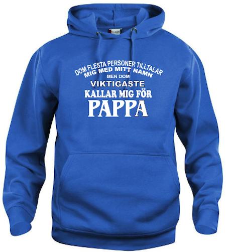 """Hoodtröja Basic """"Pappa"""""""