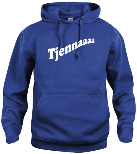 "Hoodtröja Basic ""Tjennaaaa"""