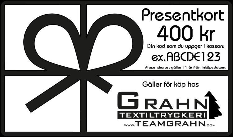 Presentkort 400 kr