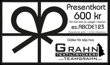 Presentkort 600 kr