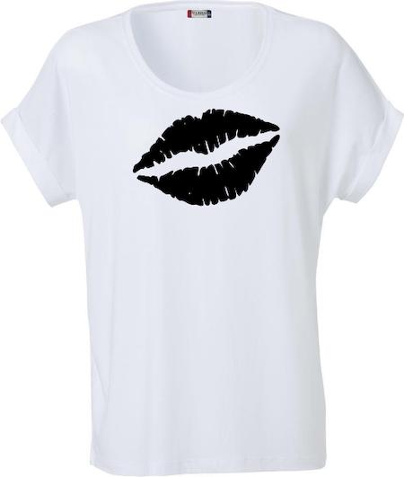 """Dam T-shirt Katy """"Läppar"""""""