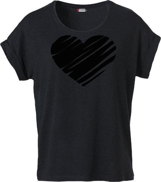 """Dam T-shirt Katy """"Hjärta"""""""