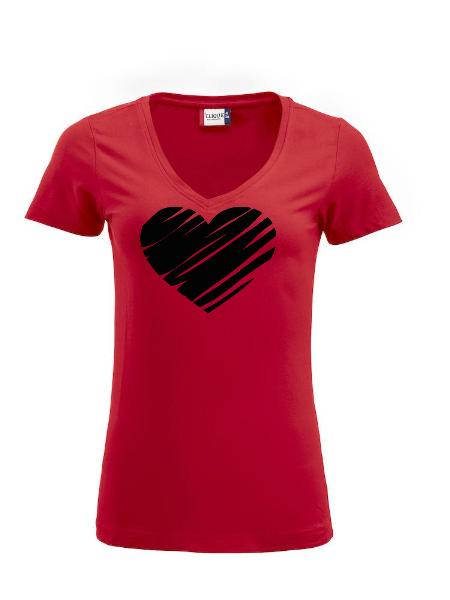"Dam T-shirt Arden ""Hjärta"""