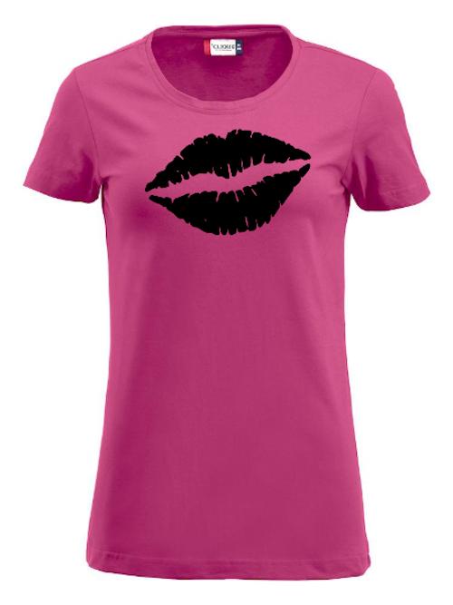 "Dam T-shirt Carolina ""Läppar"""