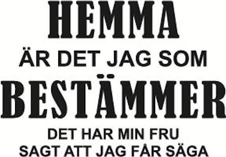 """109. Hemma Är Det Jag Som Bestämmer """"FRU"""""""