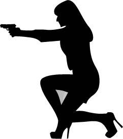 333. Kvinna med vapen siluett