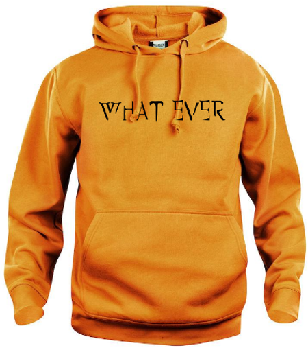 "Hoodtröja Basic ""What Ever"""