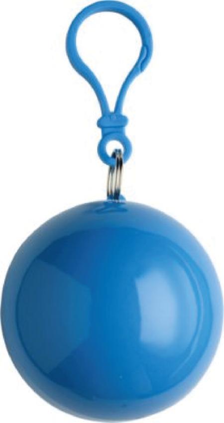 """Blå Poncho i plastboll """"FYNDHÖRNAN"""""""
