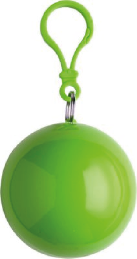 "Grön Poncho i plastboll ""FYNDHÖRNAN"""