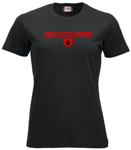 """Dam T-shirt """"Undersköterskeupproret"""""""