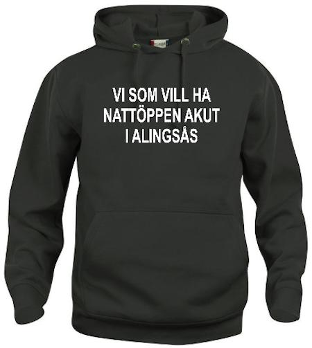 """Hoodtröja """"Nattöppen Akut Alingsås"""""""