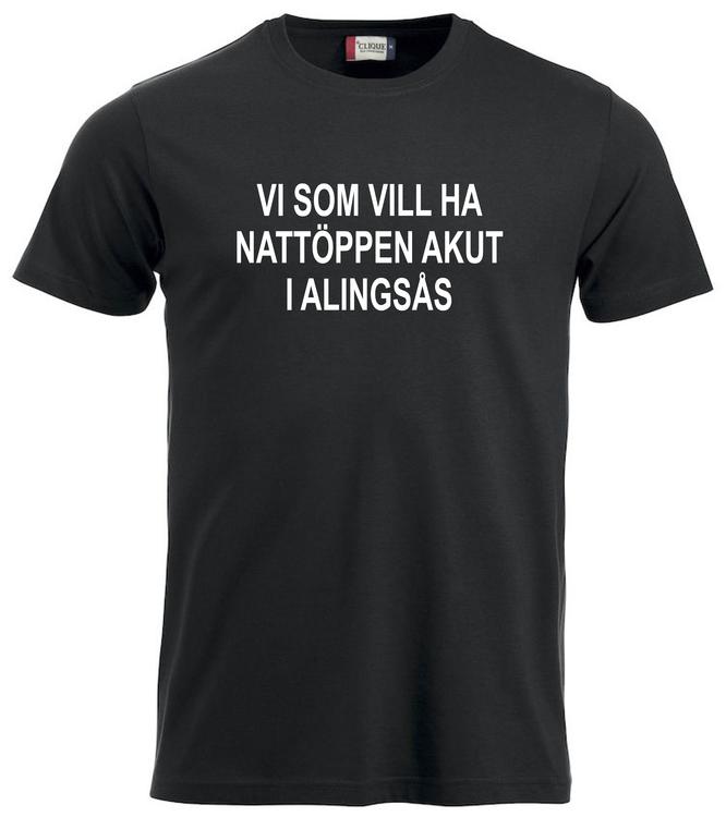 "T-shirt ""Nattöppen Akut Alingsås"""