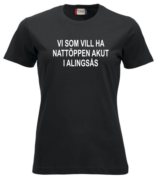 "Dam T-shirt ""Nattöppen Akut Alingsås"""