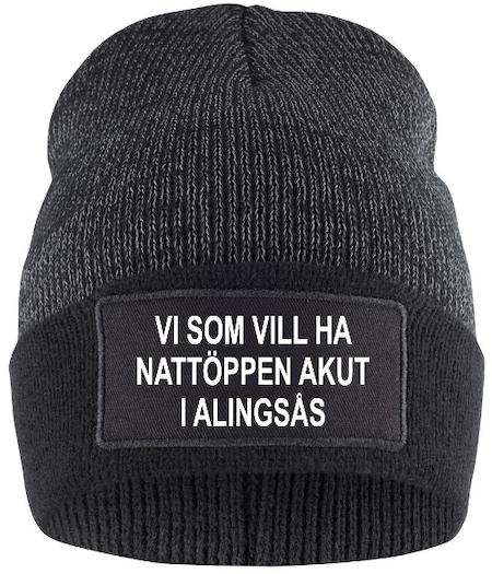 """Reflexmössa """"Nattöppen Akut i Alingsås"""""""