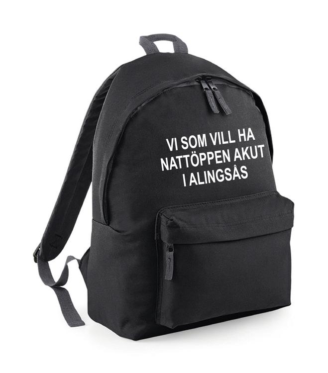 "Ryggsäck ""Nattöppen Akut Alingsås"""