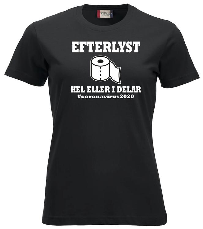 "Dam T-shirt Classic ""Efterlyst toapapper"""