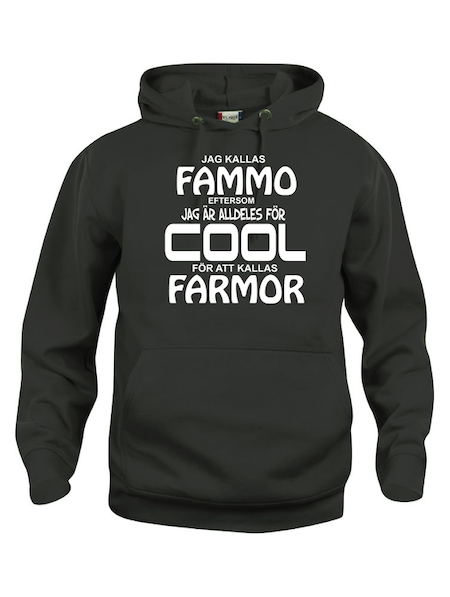 "Hoodtröja Basic ""COOL FAMMO"""