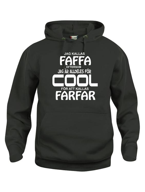 """Hoodtröja Basic """"COOL FAFFA"""""""