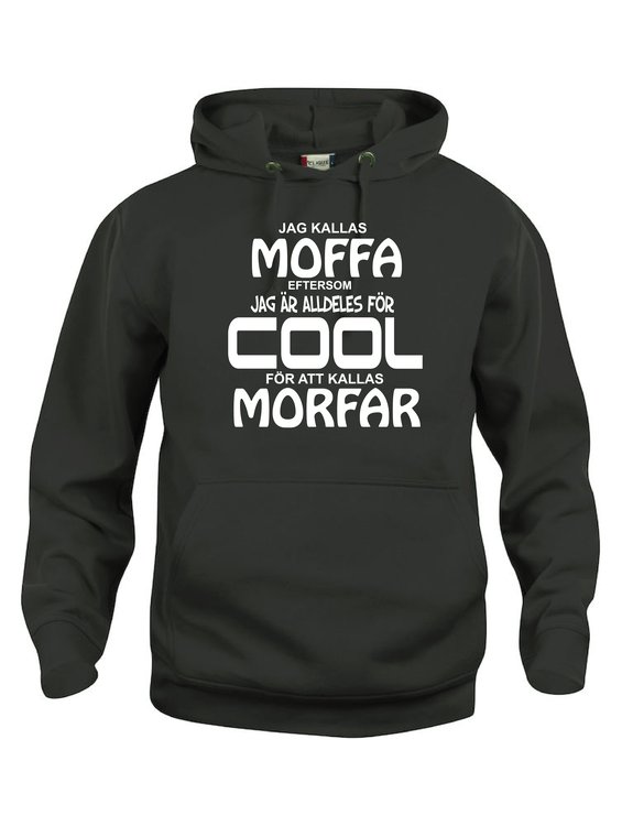 "Hoodtröja Basic ""COOL MOFFA"""