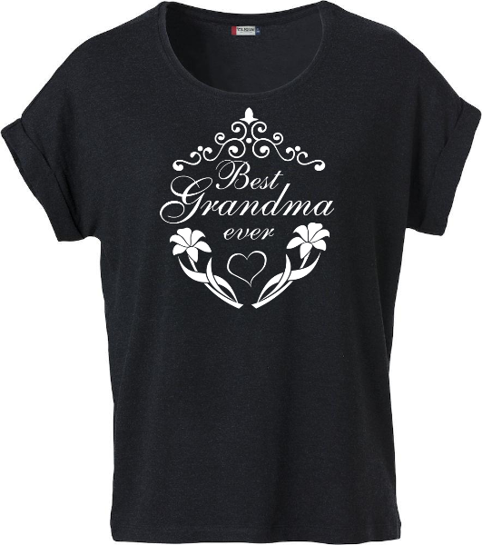 "Dam T-shirt Katy ""BEST GRANDMA EVER"""