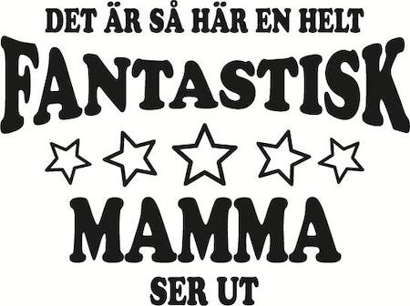 """Kuddfodral """"FANTASTISK MAMMA SER UT"""""""