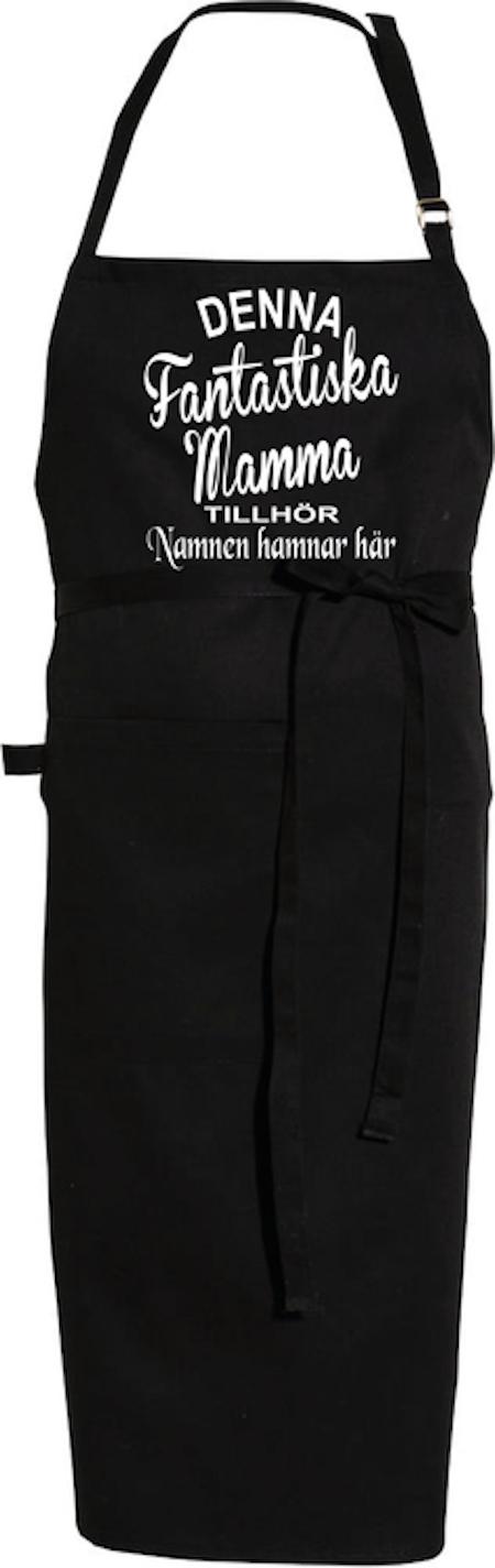 """Förkläde """"FANTASTISK MAMMA TILLHÖR"""""""