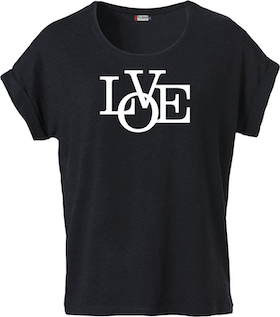 "Dam T-shirt Katy ""LOVE"""