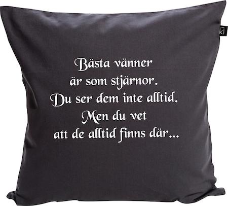 """Kuddfodral """"VÄNNER ÄR SOM STJÄRNOR"""""""