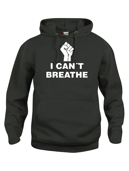 "Hoodtröja Basic ""I CAN´T BREATHE"""
