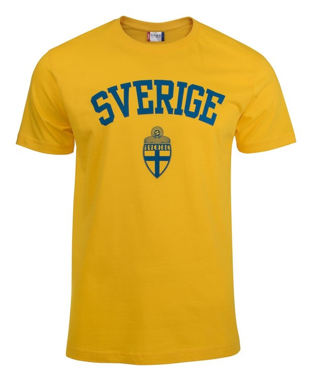 "T-shirt Basic ""SVERIGE GUL"""